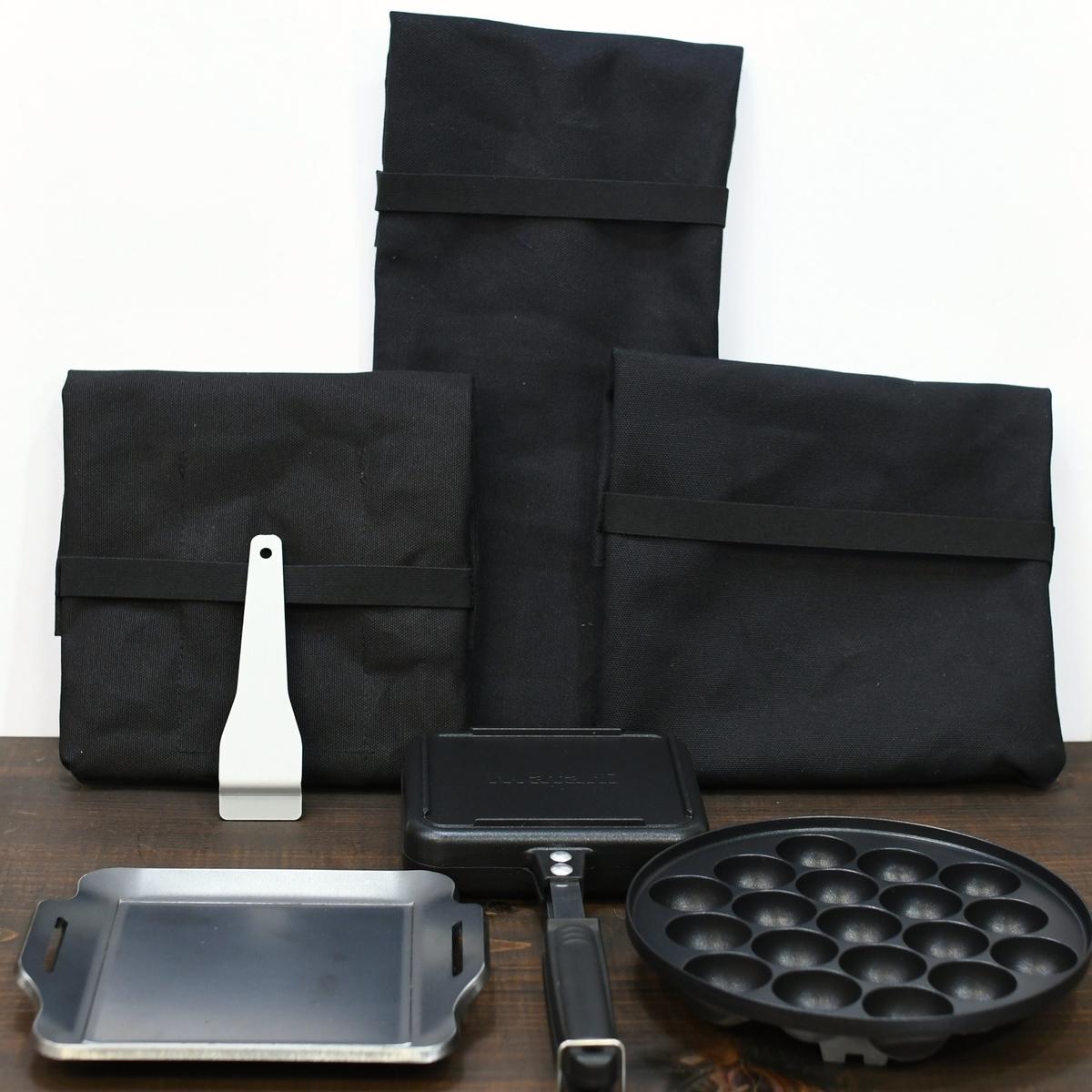 アウトドアにも使えるタフまるJrの専用鉄板などのケースオーダー製作
