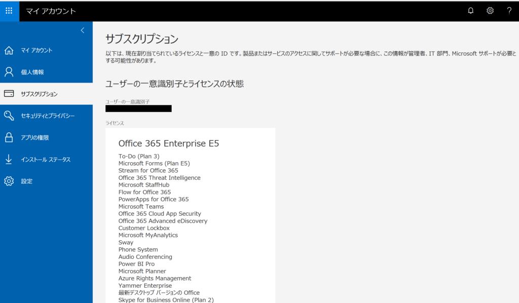 Office 365 ユーザーの一意識別...