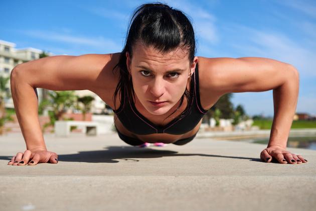 pushup woman
