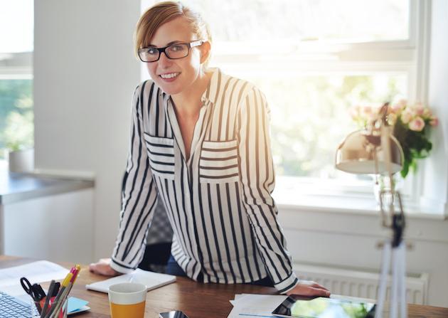 Pretty attractive female entrepreneur