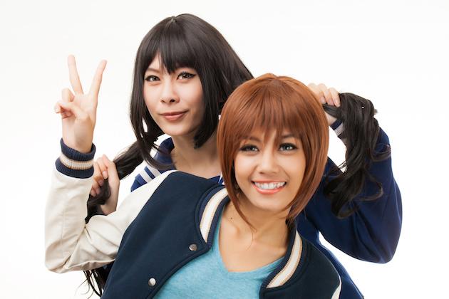 Asian women in cosplay