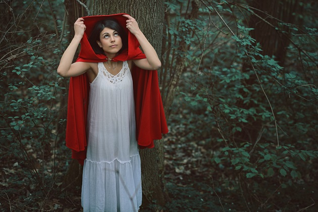 Little red riding hood alone