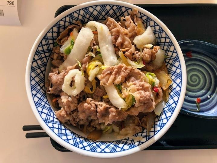 吉野家の牛丼2