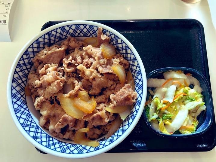 吉野家の牛丼1