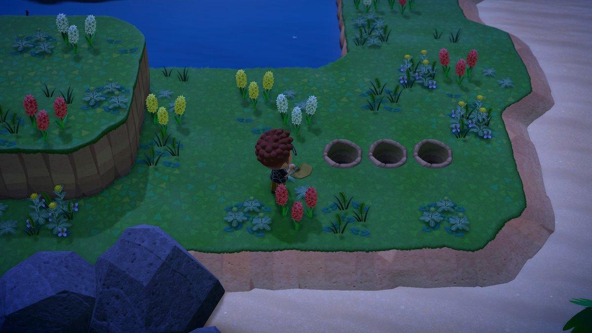 穴を掘りサソリの罠を作成