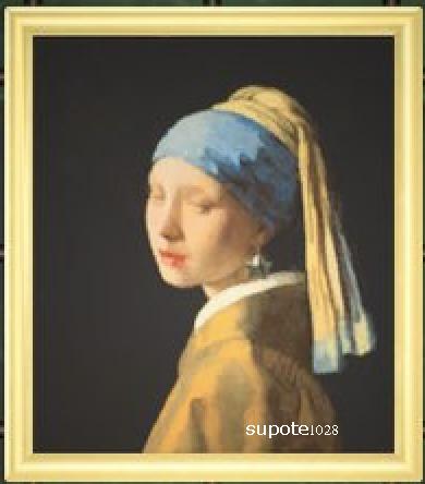 素敵な絵画[真珠の耳飾りの少女]偽物