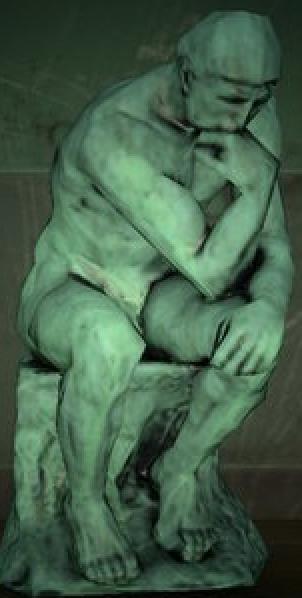 馴染みのある彫刻