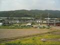 [阪急電車][車窓][京都][田畑][春][山]