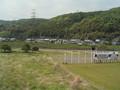 [阪急電車][車窓][京都][田畑][春][山][れんげ]