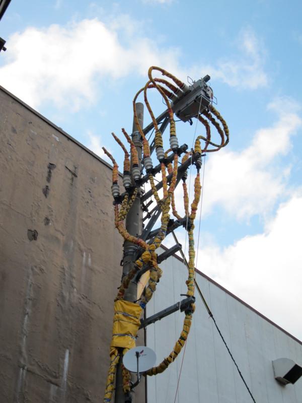 和倉温泉の電信柱