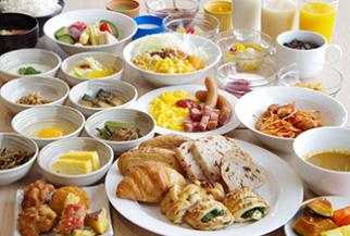 ワイズホテル旭川駅前の朝食ビュッフェ