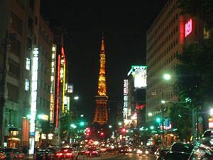 六本木より見た東京タワー