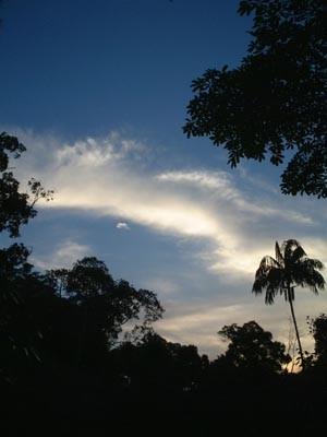 シンガポールにて-夕焼け間近