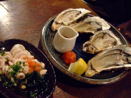 下北沢 魚真 - 生牡蠣と白子ポン酢