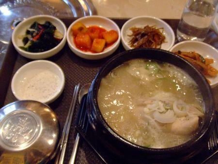 お昼ごはん - 参鶏湯定食