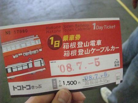 箱根にて -トコトコきっぷ