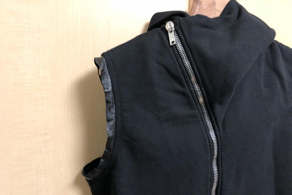 ラム革の袖