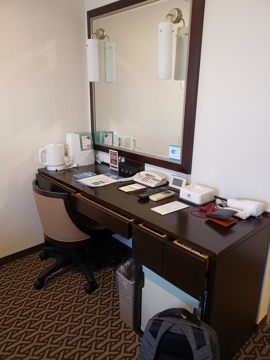 個室の机の写真