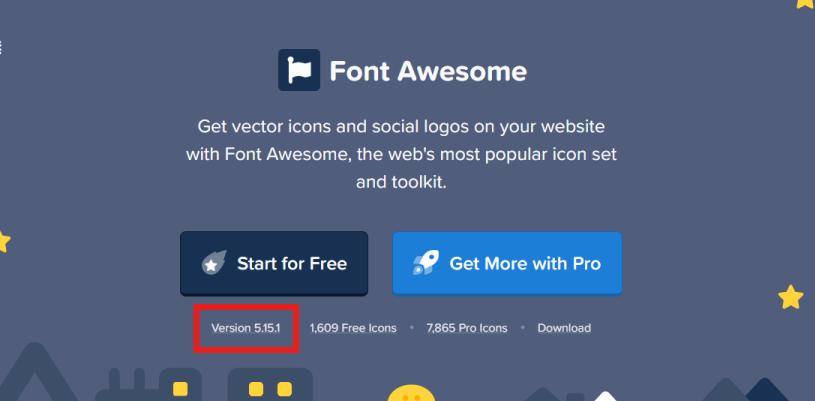 Font Awesomeのバージョン記載場所