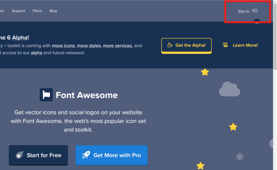 Font Awesomeログイン方法