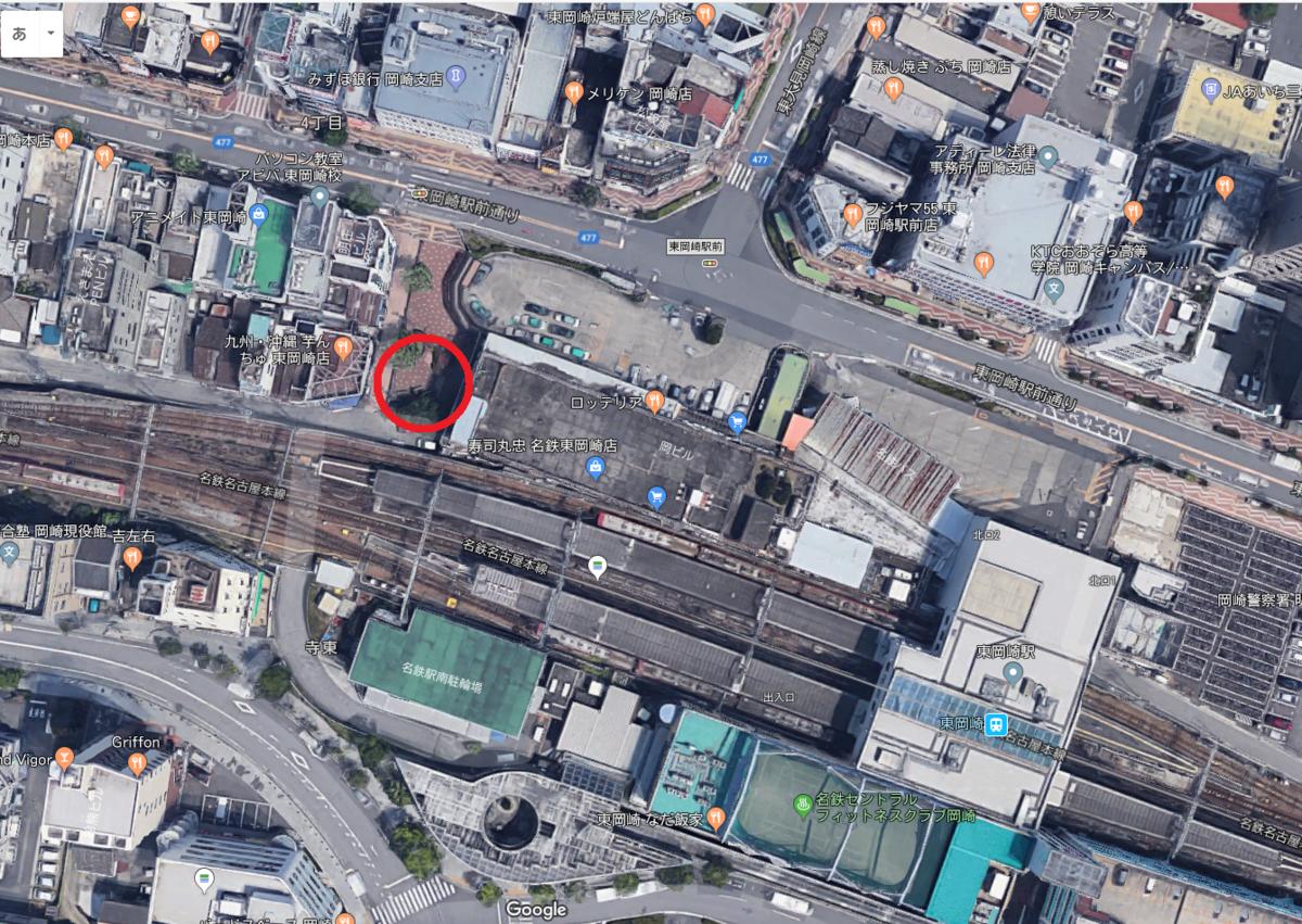 東岡崎駅でレンタサイクルを借りれる場所