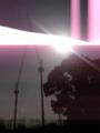 [風景][クレーン]10.03.30 逆光クレーン