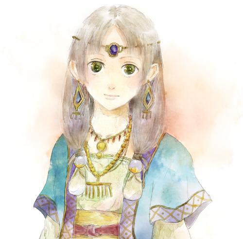 民族衣装っぽい女の子