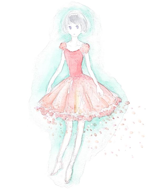 桜のドレスの女の子