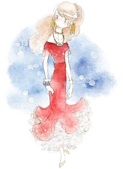 赤いドレスの女の子