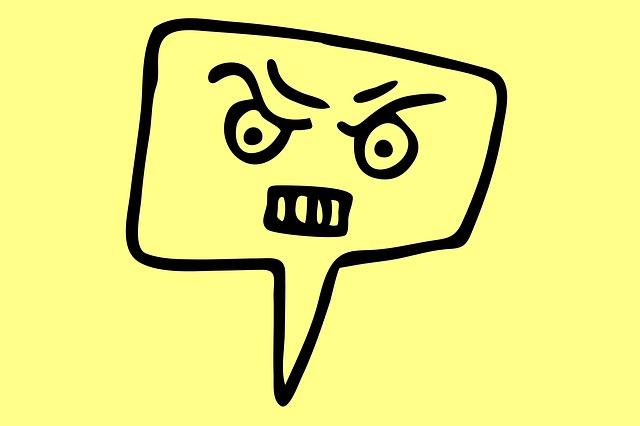 怒りのイラスト