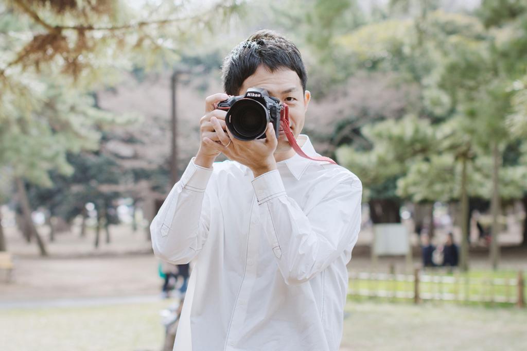 カメラマンと撮影機材