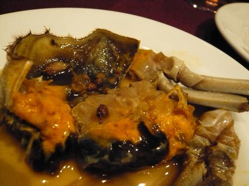 上海蟹の老酒漬け@新世界菜館