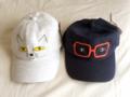 ネコ、メガネの帽子