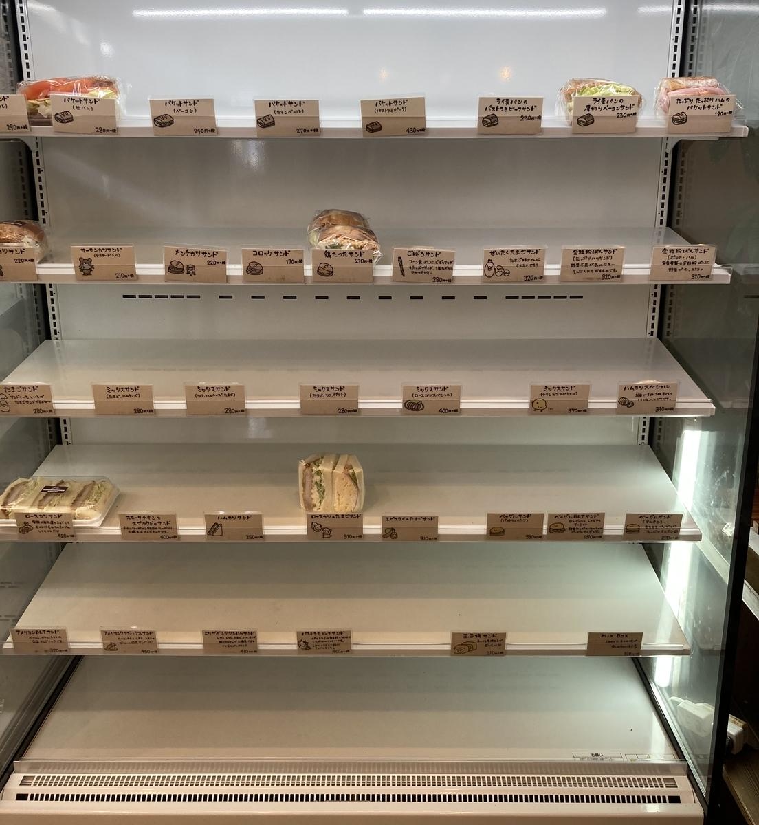 エリザベスタウンベーカリーのサンドイッチコーナー