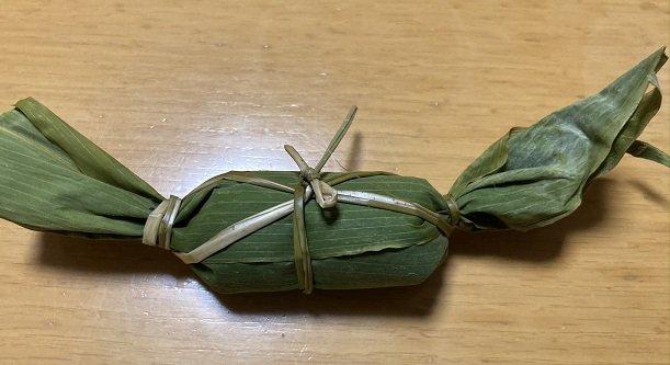 ひろ里で購入した笹団子の見た目を撮影した写真