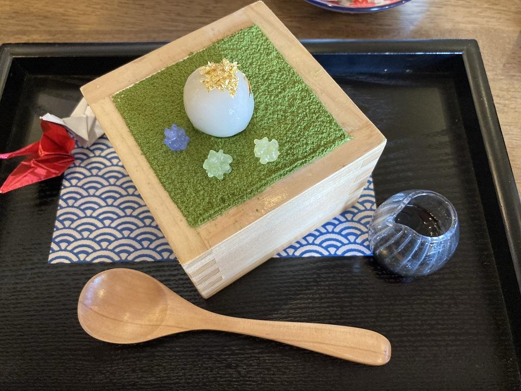 和食カフェえんの和パフェハーフサイズ