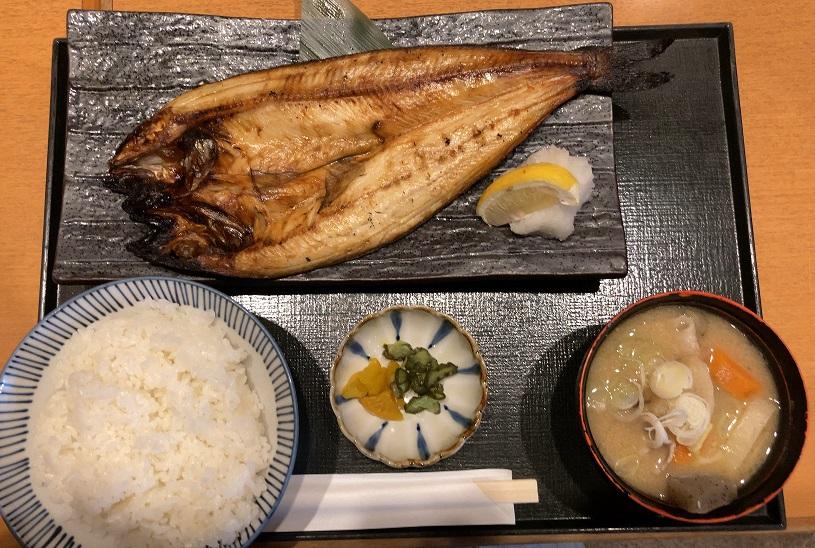 庄やの北海道産 真ほっけ開き焼き定食ランチ