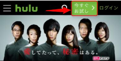 Hulu スマホ画面