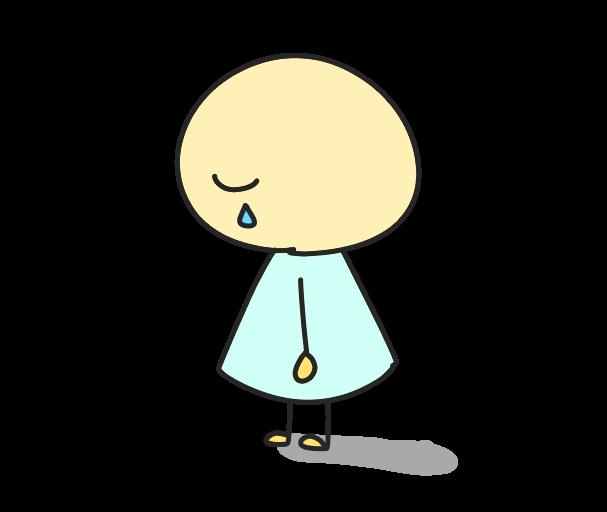 悲しむ人のイラスト
