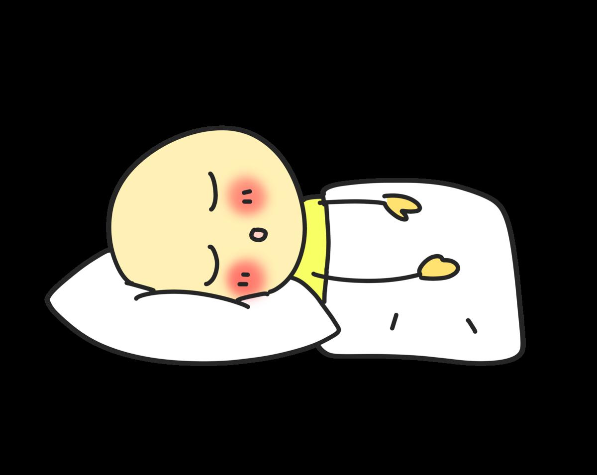 寝る人のイラスト