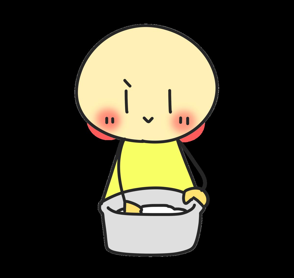 お米を研ぐイラスト