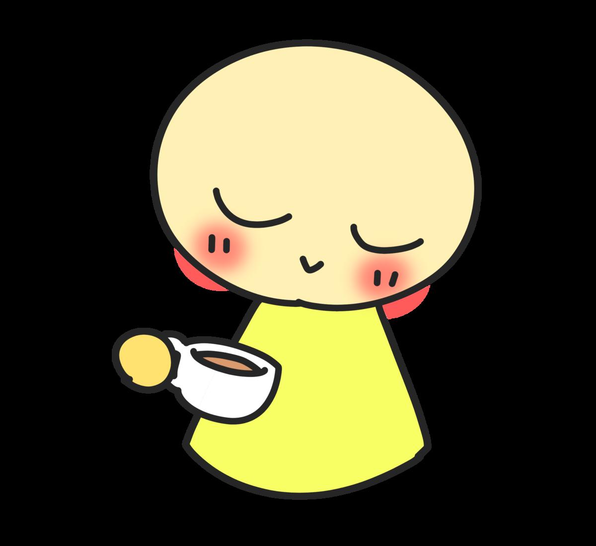 お茶を飲むイラスト