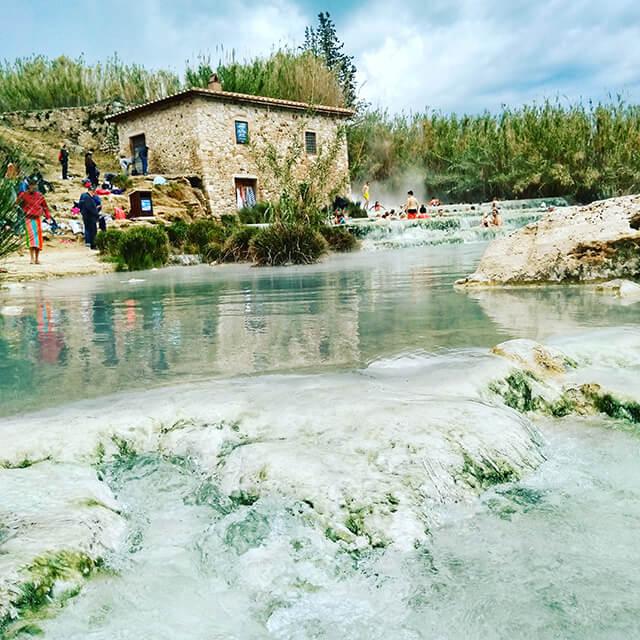 イタリア・トスカーナ・サトゥルニア温泉・ムラーノの滝イメージ画像