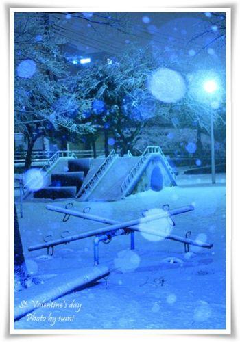 2014.02.14雪の公園1