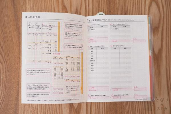 ミニ家計簿「使い方・記入例」