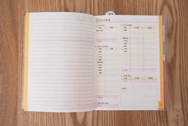 ミニ家計簿「月決算」