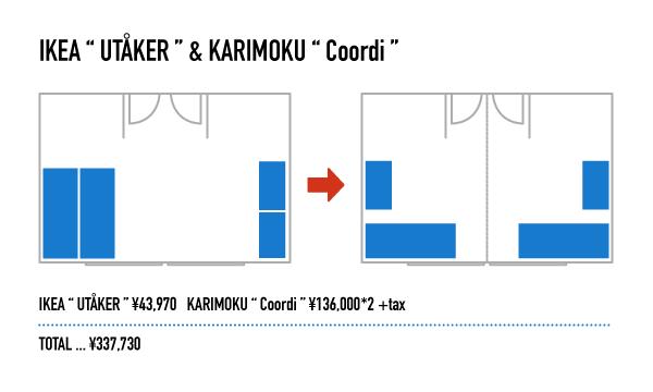 """スタッキングベッド IKEA """"UTÅKER"""" を使った子供部屋"""