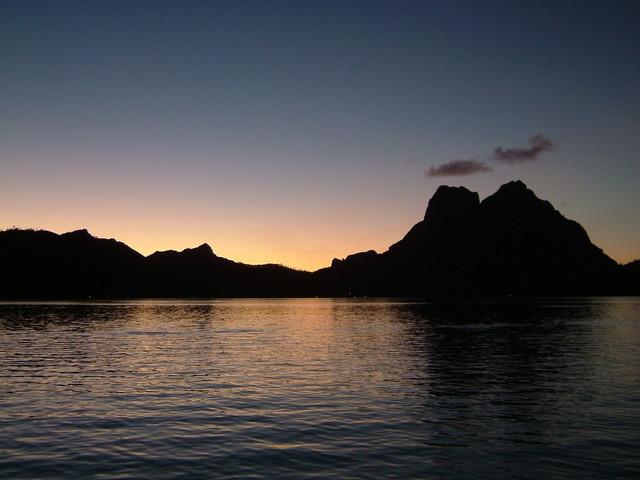 タヒチ ボラボラ島 オテマヌ山