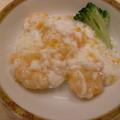 海老と生クリームの炒め物