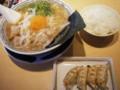 肉そばと餃子@丸源